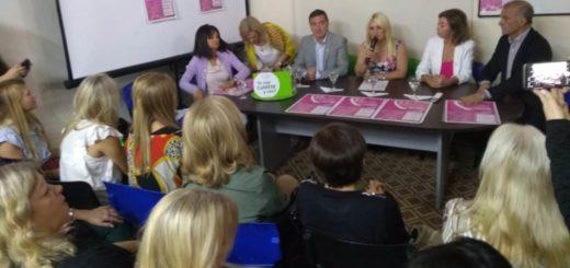 Mes Rosa: las mujeres de la Camem recibieron a Carlos Arce, Walter Villalba y Alejandra Méndez para hablar de prevención del cáncer de mama