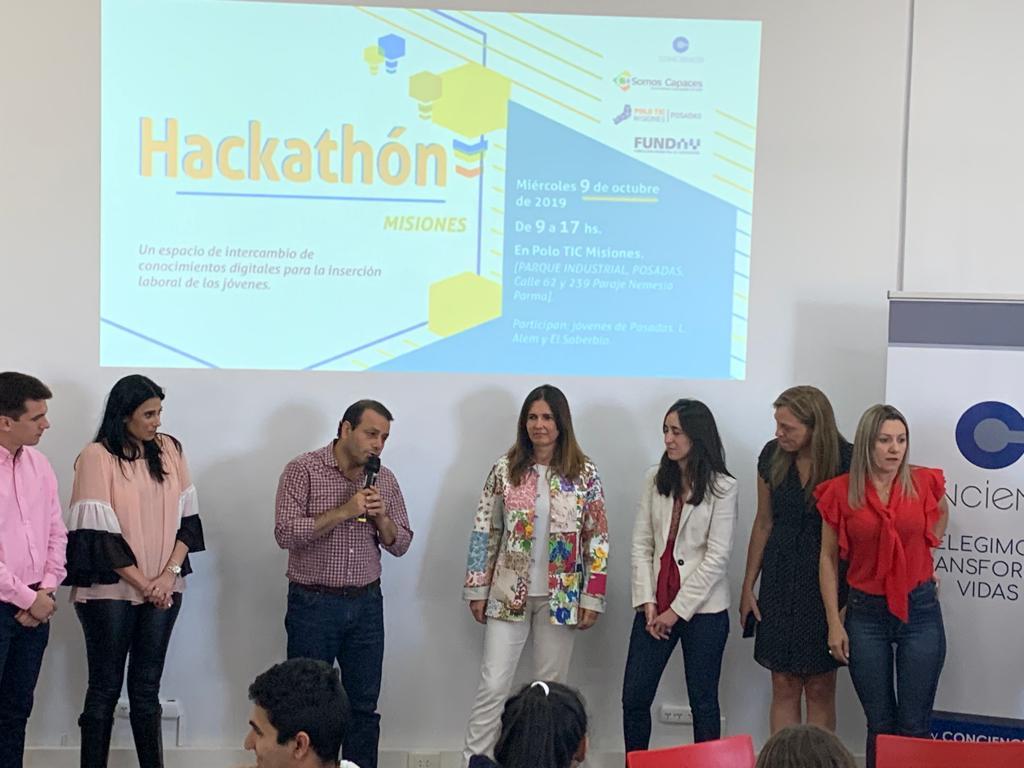 Herrera Ahuad estuvo en el Hackathon del Polo Tic