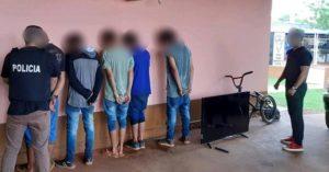 San Pedro: policías detuvieron a banda de jóvenes y recuperaron objetos robados