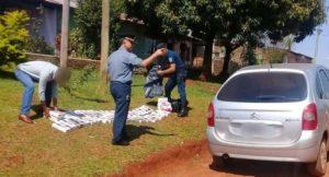 Concepción de la Sierra: policías incautaron cigarrillos de contrabando, secuestraron un auto y detuvieron a dos personas