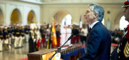 Macri encabezó el acto conmemorativo por el 150° aniversario del Colegio Militar