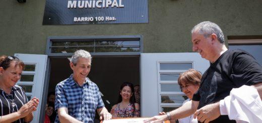 Passalacqua inauguró el Mercado Concentrador Zonal en Obera y el Sum en el barrio Cien Hectáreas