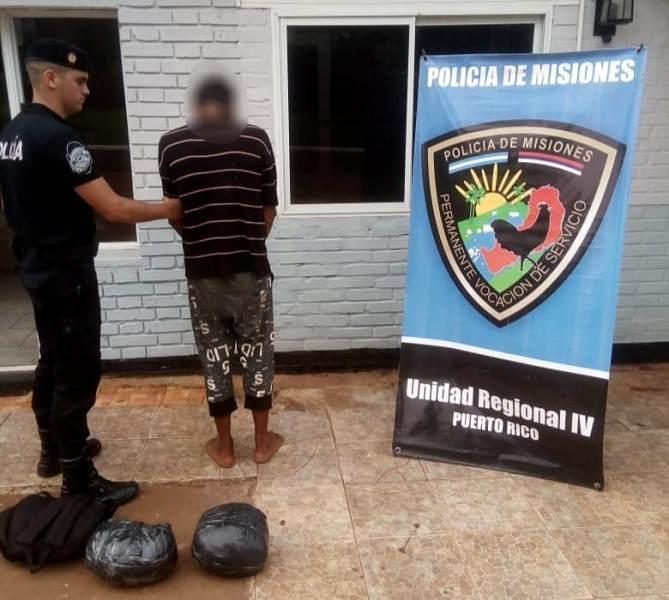 Puerto Rico: la Policía detuvo a presunto «dealer» con una mochila repleta de marihuana