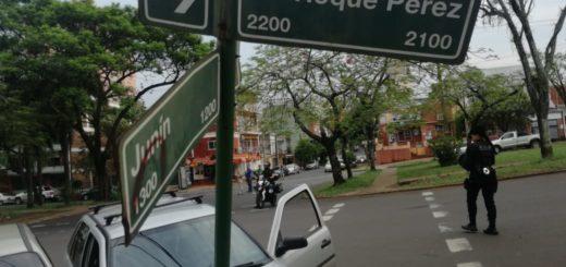 Posadas: dos vehículos chocaron en la esquina de Roque Pérez y Junín