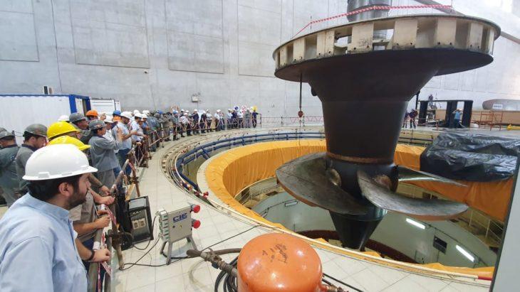 La EBY avanza con las etapas de rehabilitación de las turbinas