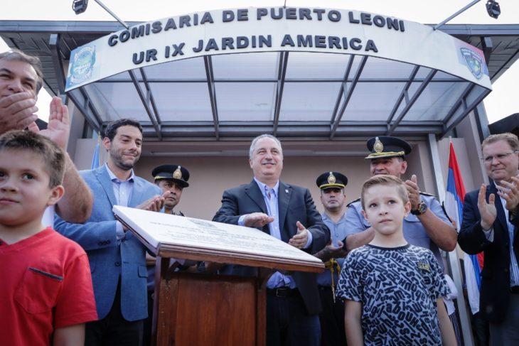 El gobernador Passalacqua inauguró la Comisaría de Puerto Leoni