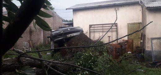 Fuertes vientos hicieron volar techos y tumbaron postes de alumbrado público en Candelaria