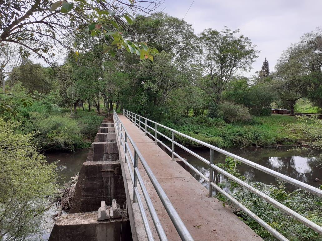 Vialidad habilitó el puente peatonal en Garuhapé