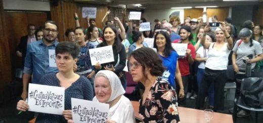 Nora Cortiñas y Magda Hernández reclaman la liberación de Cristina Vázquez que lleva 18 años presa en Posadas