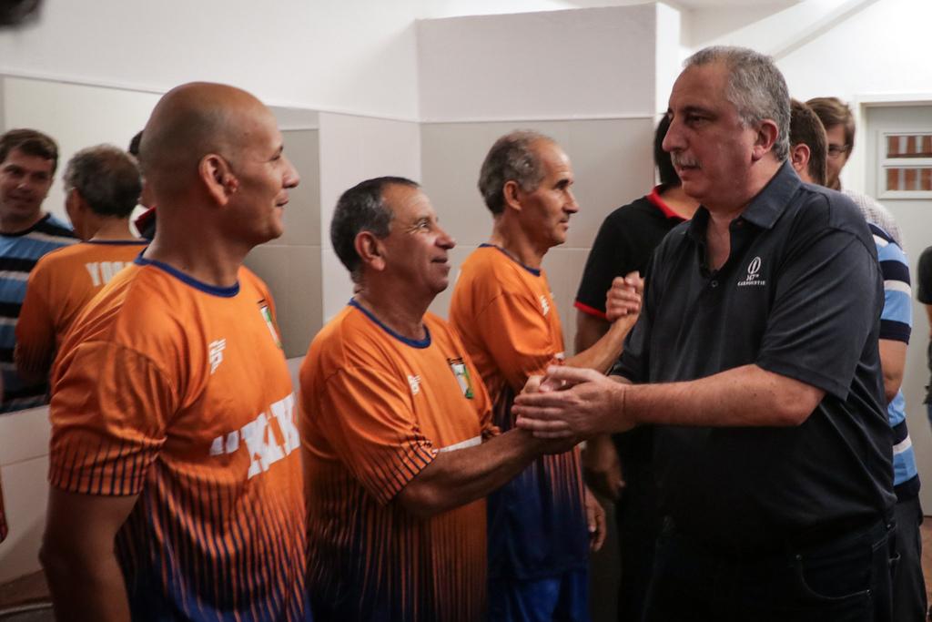 """En San José, Passalacqua encabezó la inauguración de la cancha de fútbol y tribunas """"Pedro Obdulio Santa Clara"""""""