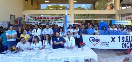 Reclamo de los trabajadores del Hospital de Pediatría: el jueves 14 hay una nueva reunión con Salud Pública