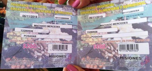En el marco de la Emergencia Alimentaria, Arce entregó tickets a beneficiarios de tarjetas sociales para que puedan comprar en las Ferias Francas