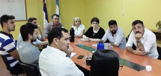 Funcionarios nacionales se reunieron con el ministro de Trabajo Agulla