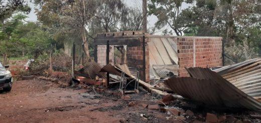 Colonia Paraíso: se incendió su vivienda, perdió todo y pide ayuda