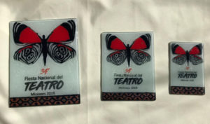 Explican el diseño del logo de la 34º Fiesta Nacional de Teatro: la mariposa 88