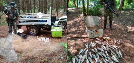 Ecología sorprendió a pescadores furtivos en plena veda con redes y armas
