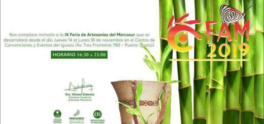 Comienza este jueves la novena edición de la Feria de Artesanías del Mercosur