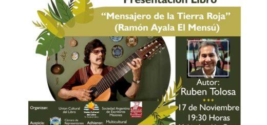 """Presentarán """"Mensajero de la Tierra Roja"""", el libro sobre Ramón Ayala que vas a adquirir por Internet en Compras Misiones"""