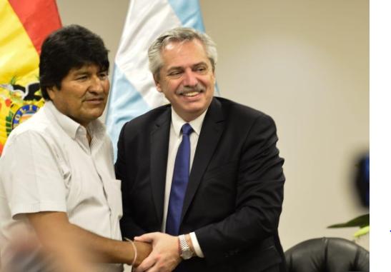 Alberto Fernández: «El día que sea presidente será un orgullo recibir a Evo en la Argentina»