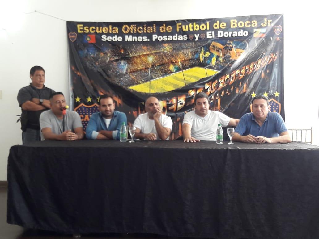 """Misiones ya cuenta con la Peña """"Chicho"""" Serna y con dos escuelas de fútbol de Boca"""