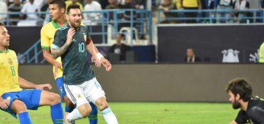 Amistoso internacional: Argentina le ganó a Brasil con gol de Messi