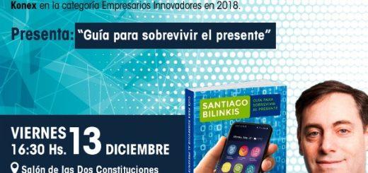 Santiago Bilinkis presentará su nuevo libro en la Legislatura Misionera