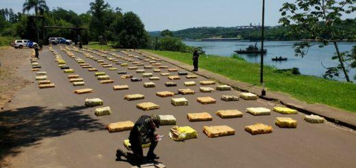 Prefectura secuestró más de 8.000 kilos de marihuana con un valor comercial que supera los $500.900.000