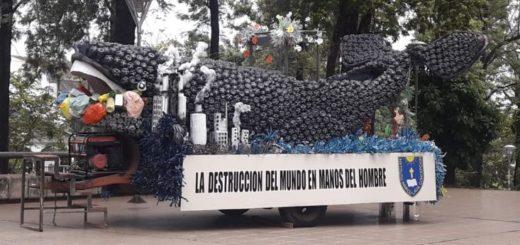 #Estudiantina2019: alumnos del Colegio la Inmaculada donarán su carroza reciclada para la creación de materiales de construcción