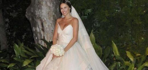 El vestido de novia de Pampita: ¿imitó a una actriz de Glee?