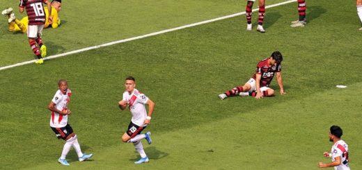 Borré abrió el marcador y River Plate le gana a Flamengo en la final de la Libertadores