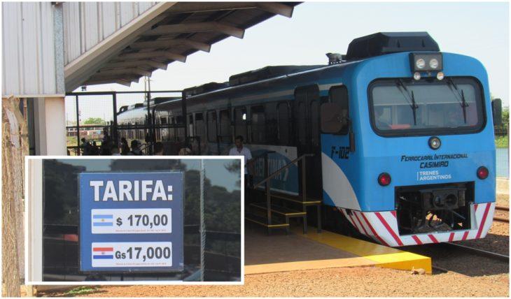 Aumentó a 170 pesos el pasaje del tren Internacional Posadas- Encarnación y los usuarios optan por usar el colectivo