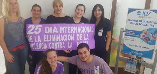 Posadas: el IPS realizó actividades en el marco del Día Internacional de la Eliminación de la Violencia contra la Mujer