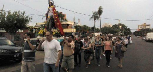 En conmemoración a Santa Catalina se realizó la tradicional procesión en Posadas