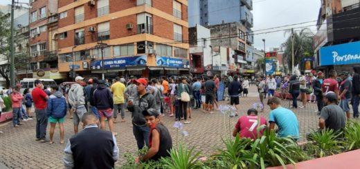 Mañana de miércoles con tránsito complicado en Posadas: tareferos se movilizan por el microcentro