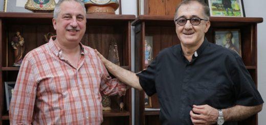 """Passalacqua visitó al obispo Martínez y le agradeció """"su permanente cercanía espiritual"""""""