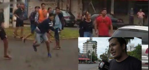Exclusivo: habló el joven que filmó el ataque de los piqueteros a la automovilista en Posadas