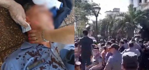 Piedrazos, corridas y balas de goma en un enfrentamiento entre tareferos y policías en pleno centro posadeño