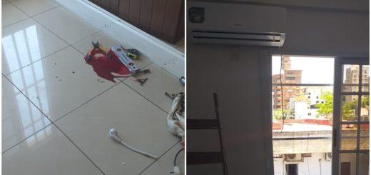 Posadas: un técnico herido al recibir una fuerte descarga eléctrica mientras instalaba un aire acondicionado