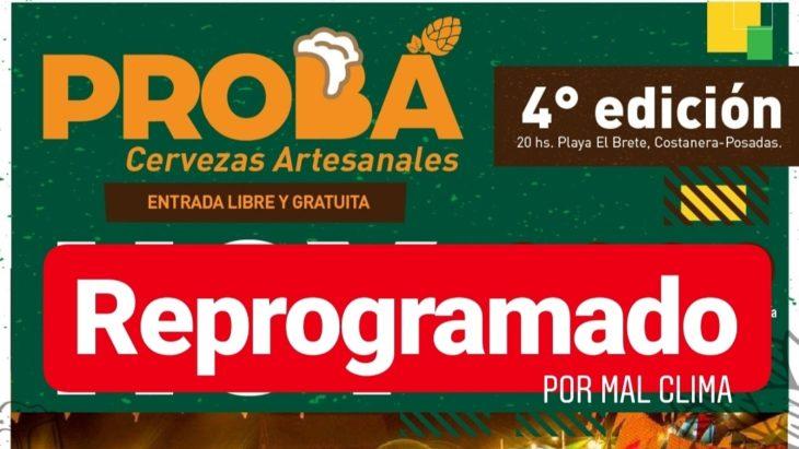 """La 4ta Edición del """"Probá"""" artesanal se reprograma para este domingo en El Brete"""