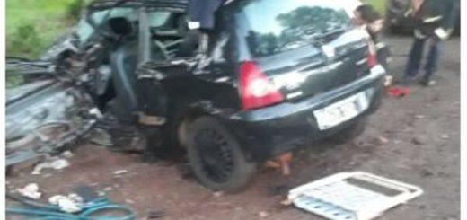 Santo Pipó: accidente de tránsito dejó dos heridos