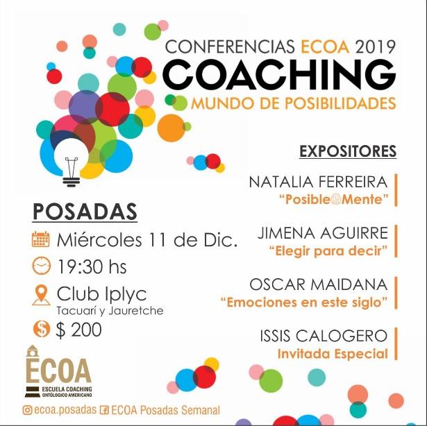 """Conocé cuáles serán los temas que abordarán las Conferencias Ecoa 2019 """"Mundo de Posibilidades"""""""