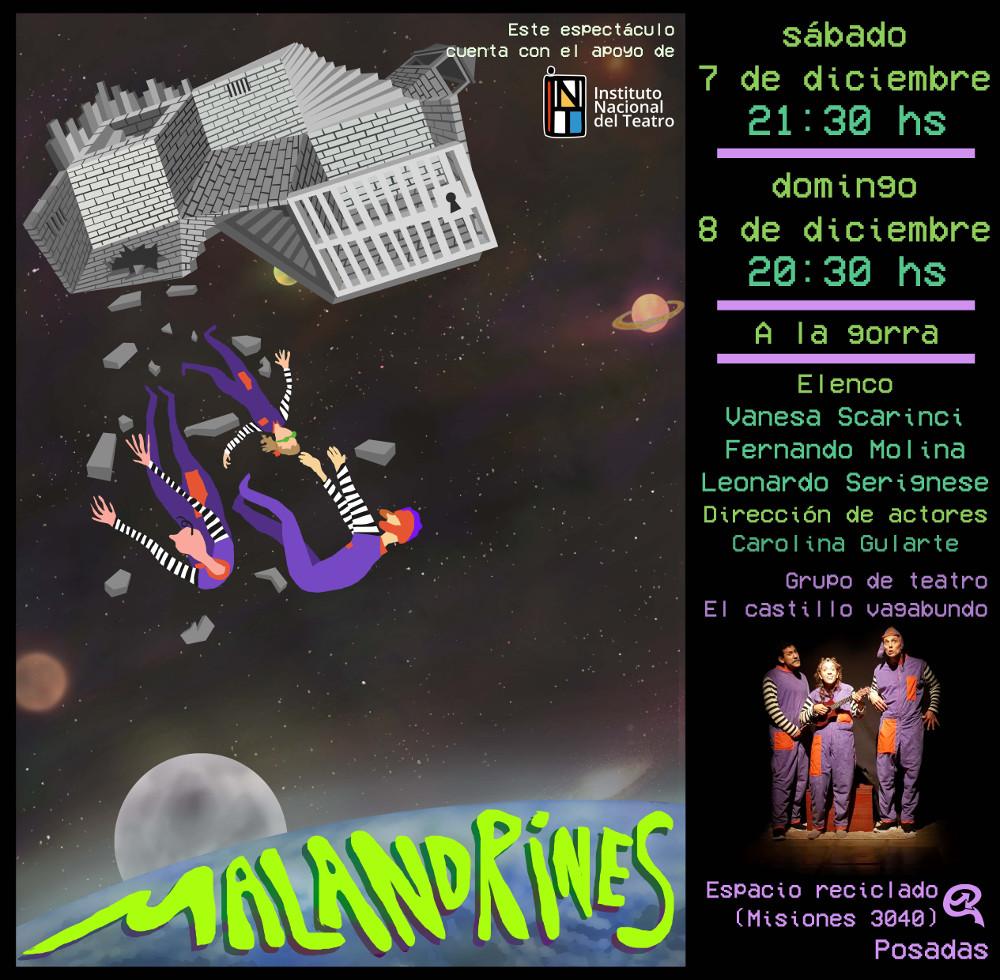 Teatro: el grupo El Castillo Vagabundo despide el año con dos funciones de Malandrines