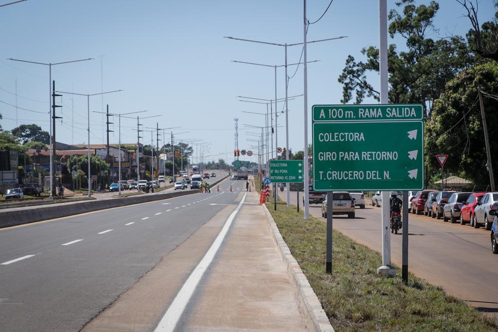 Passalacqua supervisó las obras de travesía urbana sobre ruta 12 en Posadas y Garupá