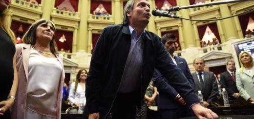 Máximo Kirchner juró como diputado con una frase de Los Redondos