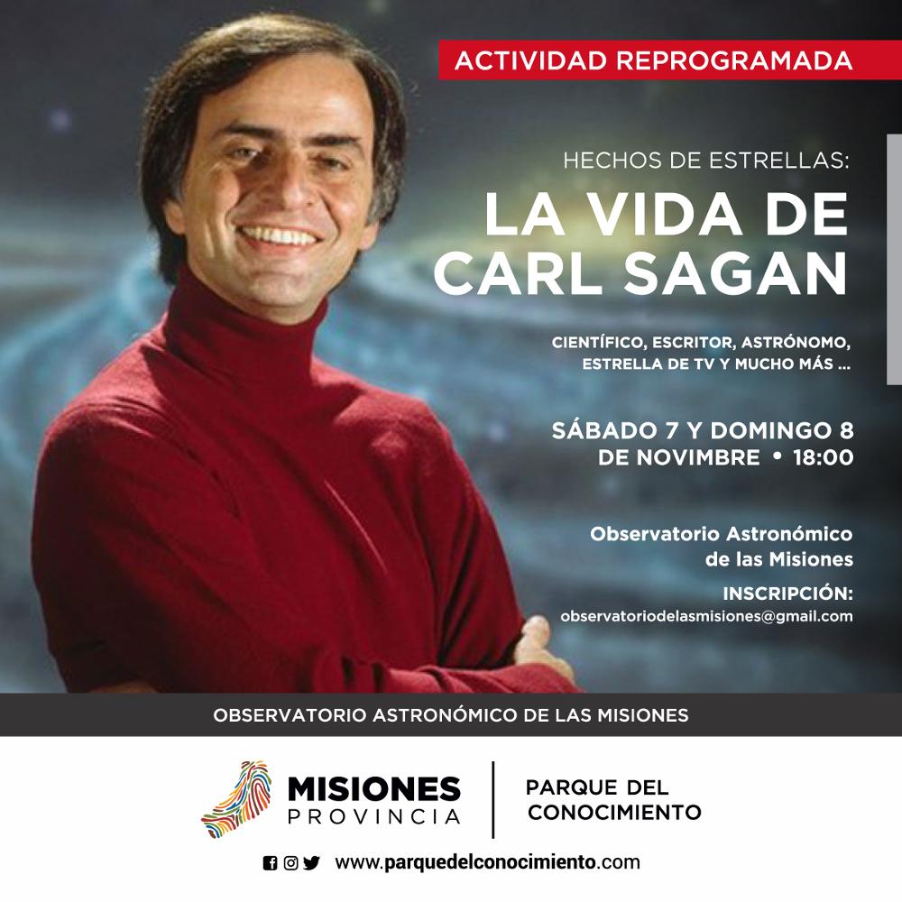Brindarán una charla sobre Carl Sagan, una estrella de la divulgación científica