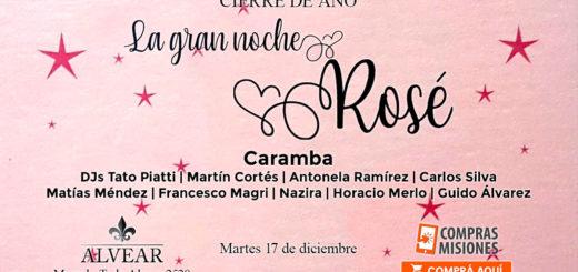 Salones Alvear cierra el año con la Gran Fiesta Rosé, la noche más glamorosa y esperada…Adquirí aquí las entradas por Internet