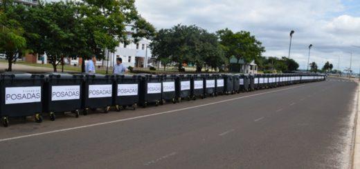 La municipalidad de Posadas incorporó 200 contenedores nuevos