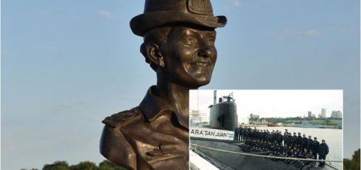 La submarinista Eliana María Krawczyk quedó inmortalizada en bronce en el puerto homónimo de Posadas