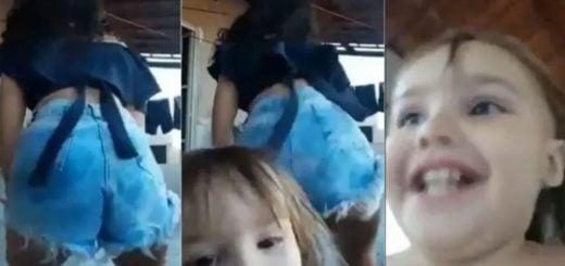 Viral: la desopilante travesura de una niña que arruinó el twerking de su hermana