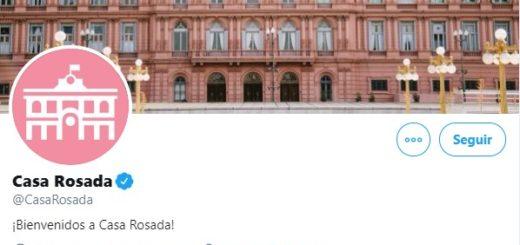 La cuenta oficial de Twitter de la Casa Rosada se despidió con una cita bíblica